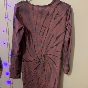 MISSGUIDED BNWT long sleeve tie dye dress/shirt